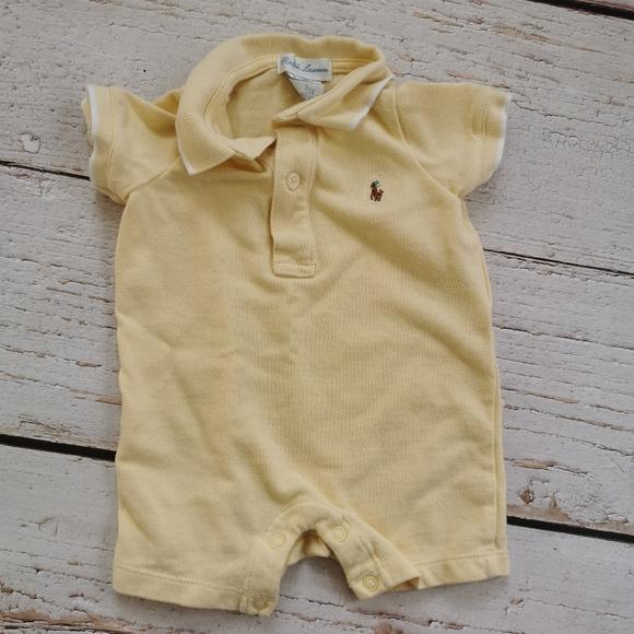 Baby Boy Ralph Lauren Collared Romper